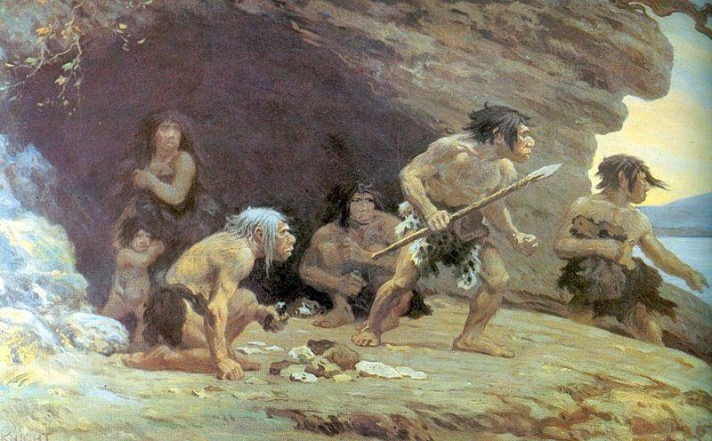 Neandertal par Knight 1920