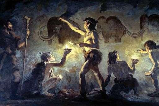 Charles R. Knight cro-magnon painting