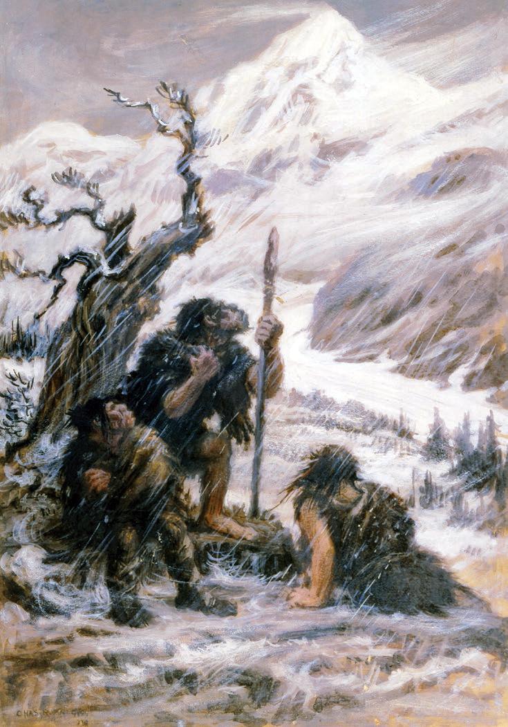 Snowbound_Neanderthals Charles R. Knight