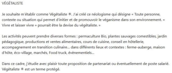 Végétaliste