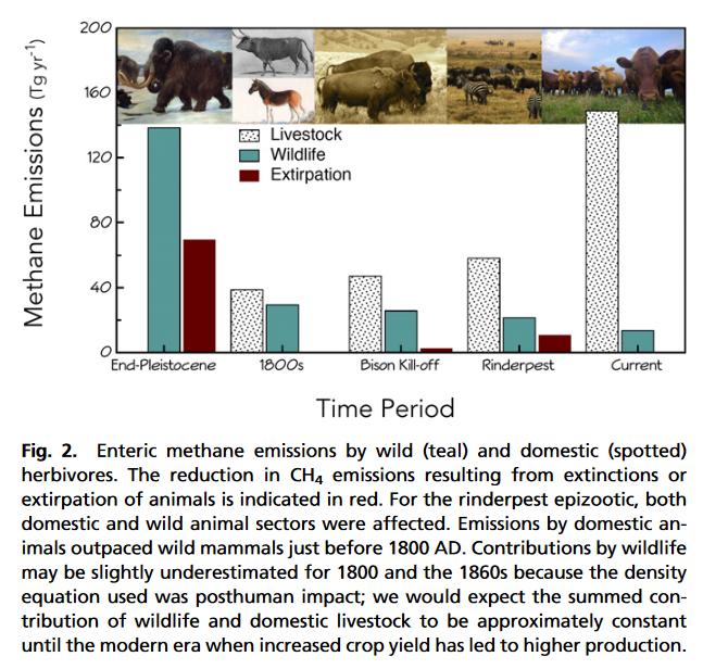 CH4 emissions since pleistocene