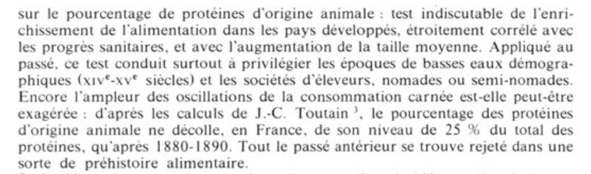 Aymard 75 proportion de produits animaux historique