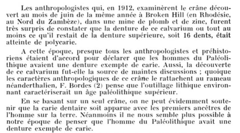 Verger-Pratoucy 1967 caries paléolithique